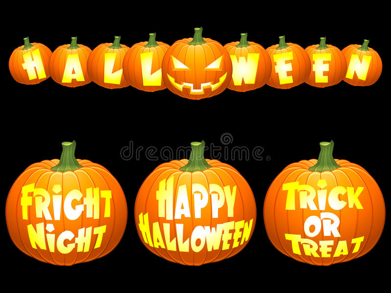 pojęć Halloween bania ilustracji