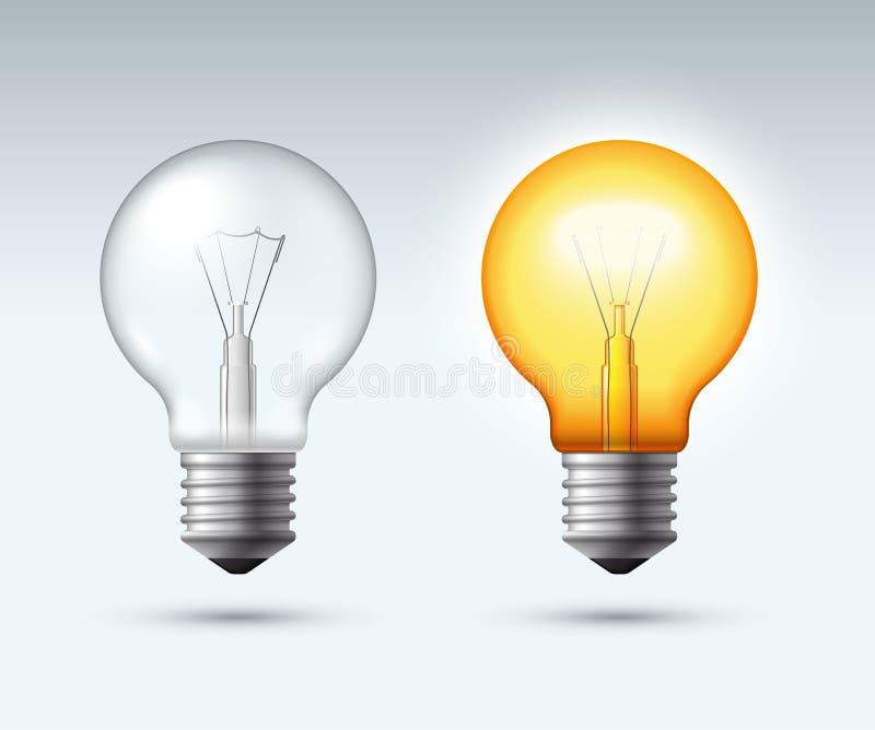 pojęcia żarówki pomysł ilustracji światła wektora Wyłaczający z przerwami ilustracji
