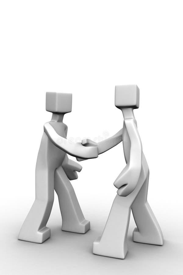 pojęcia biznesowy partnerstwo ilustracji