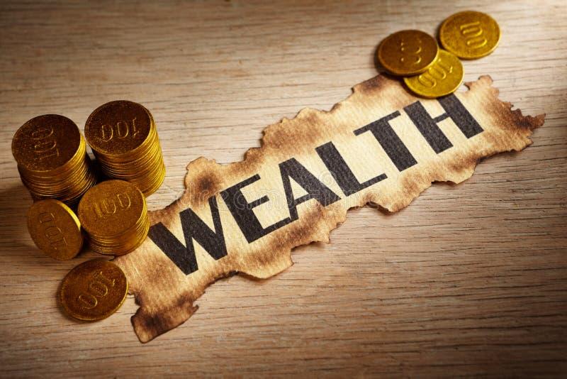 pojęcia bogactwo zdjęcie royalty free