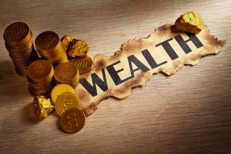 pojęcia bogactwo obrazy stock