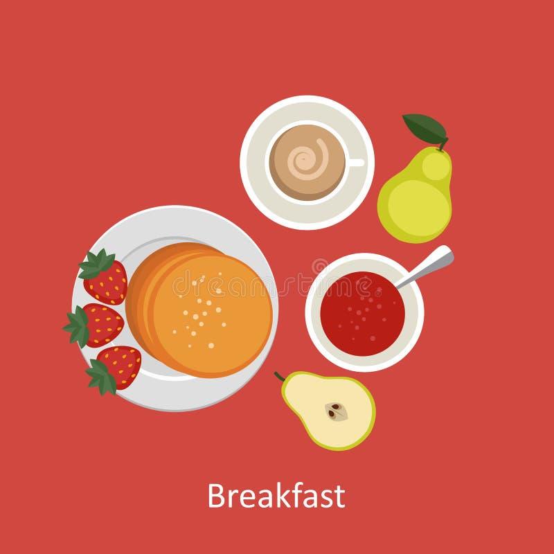 Pojęcia dla śniadaniowego czasu royalty ilustracja