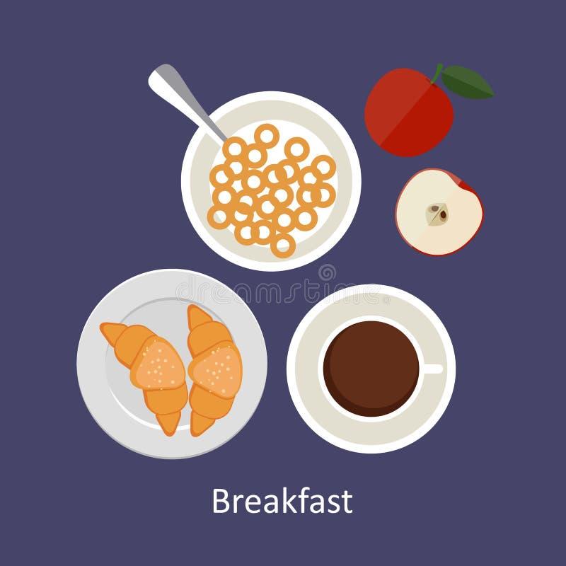 Pojęcia dla śniadaniowego czasu ilustracji