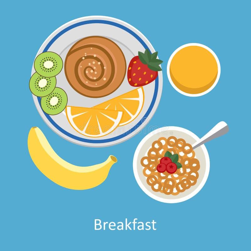 Pojęcia dla śniadaniowego czasu ilustracja wektor