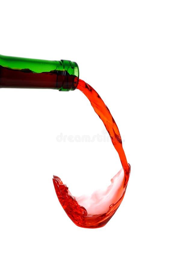 pojęcia dolewania czerwone wino zdjęcia stock