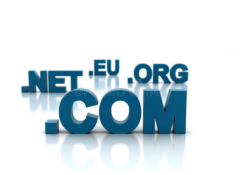 pojęcia domeny internety ilustracja wektor