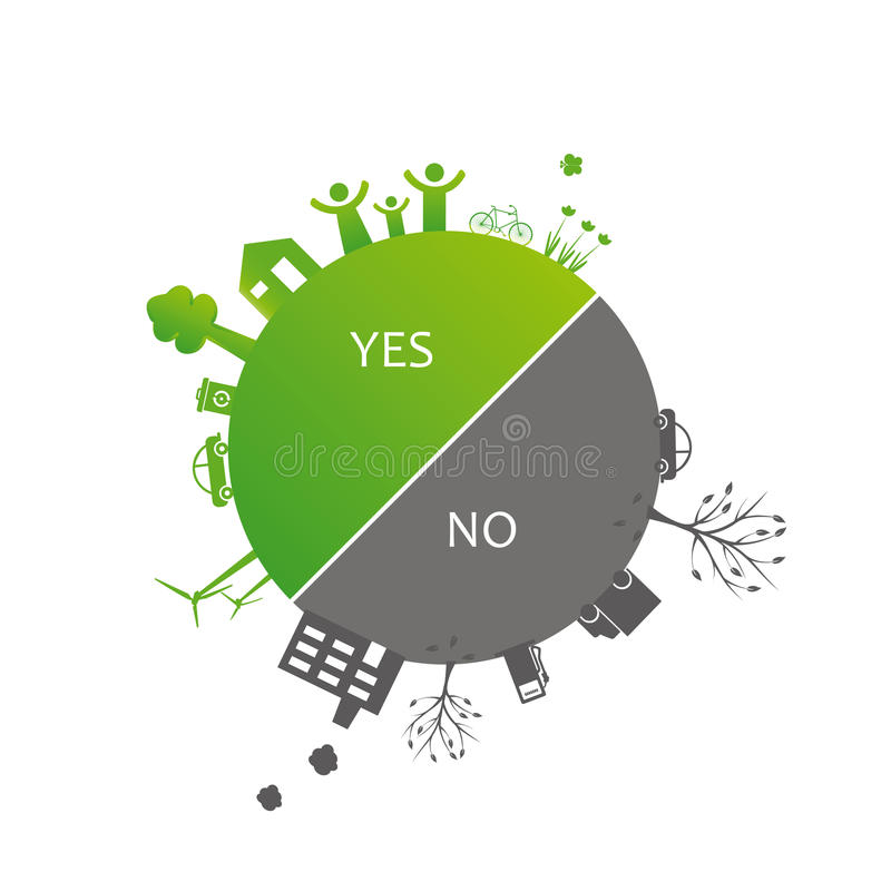 pojęcia ekologii ilustracja ilustracja wektor