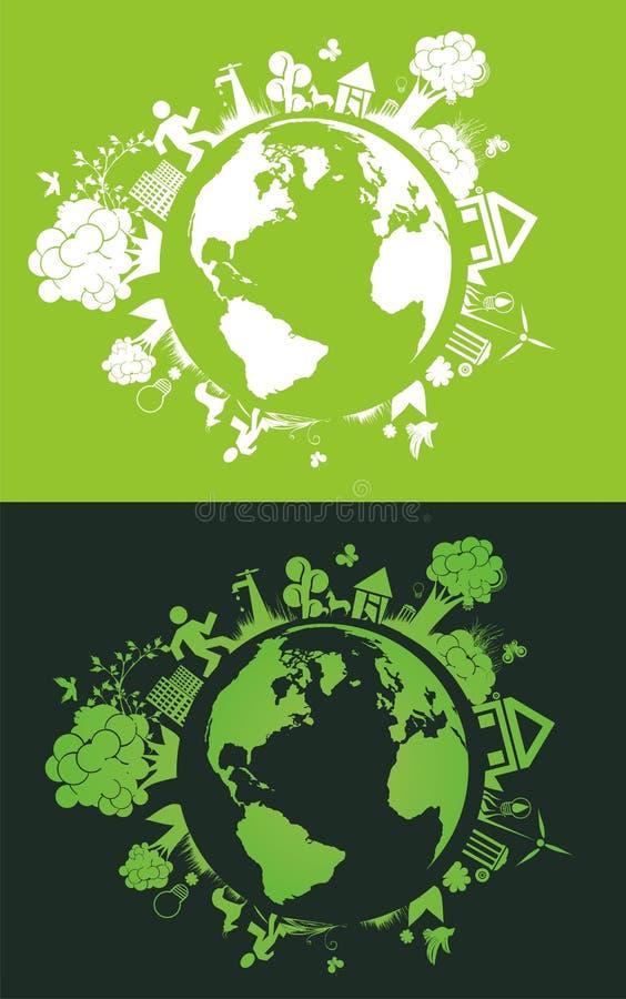 pojęcia ekologii planeta save royalty ilustracja