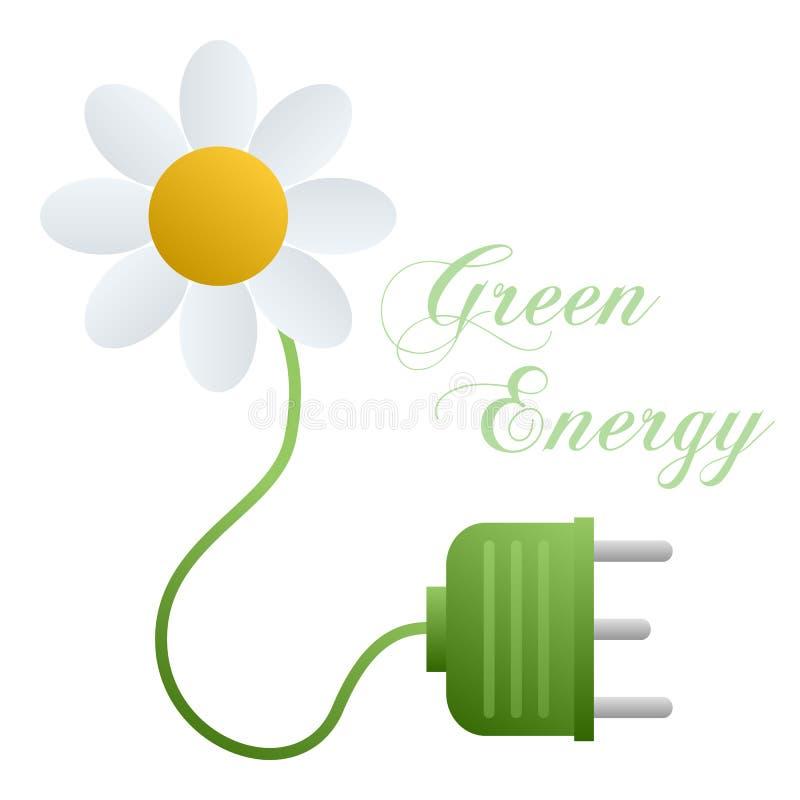 pojęcia energii zieleń ilustracja wektor
