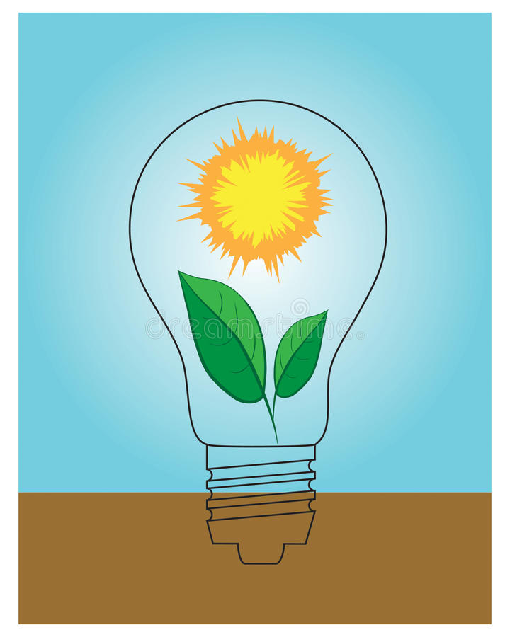 pojęcia energii zieleń ilustracji
