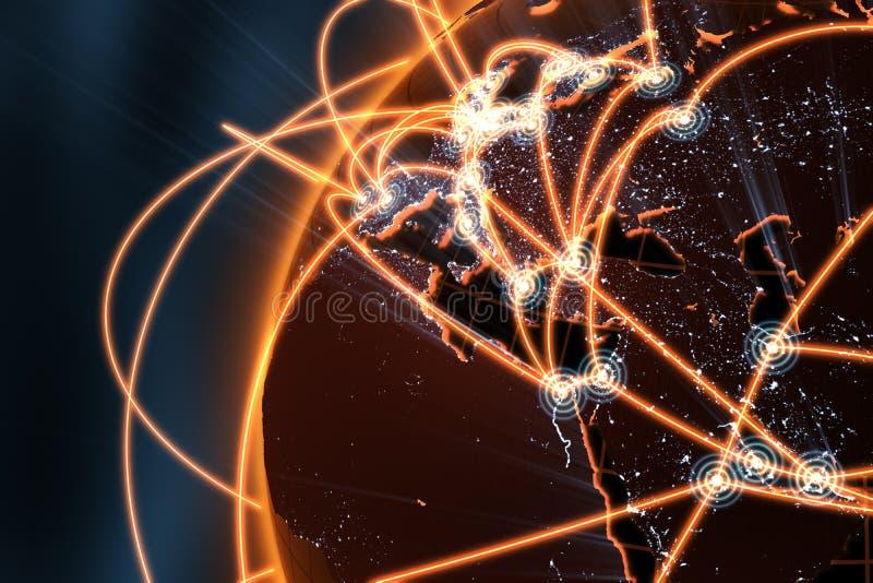 pojęcia Europe globalna sieć ilustracja wektor