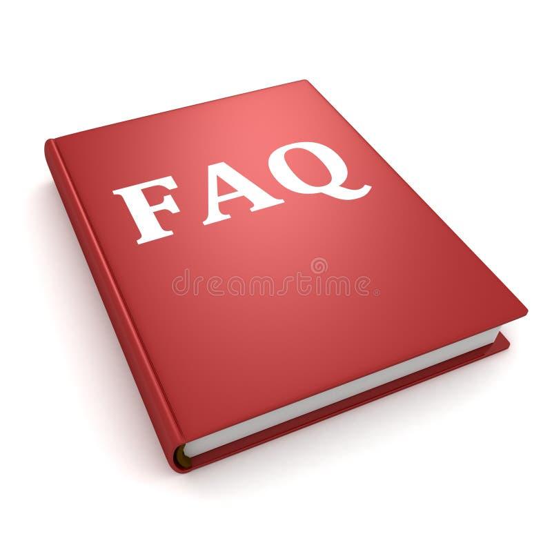 Pojęcia faq czerwieni książka na biały tle ilustracji