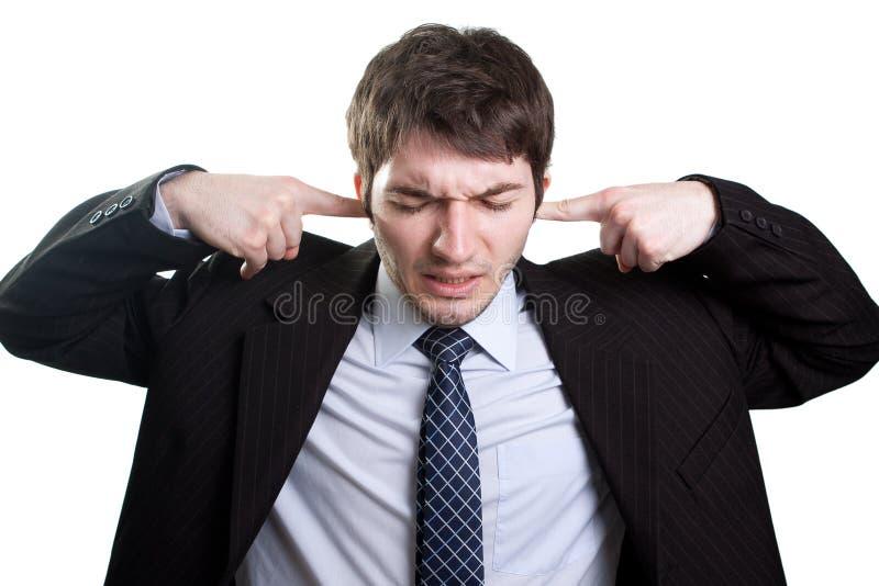 pojęcia hałasu stres obraz stock