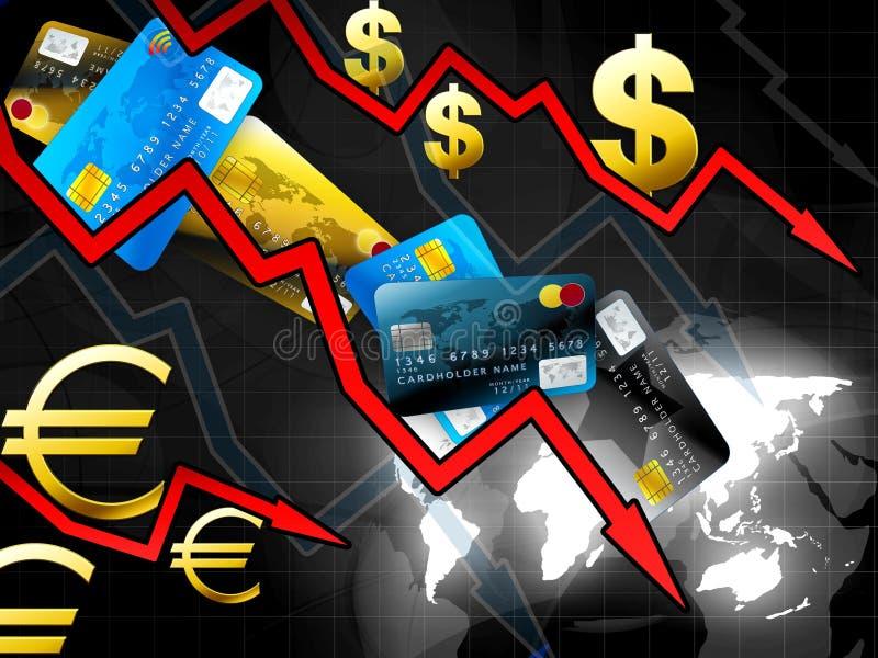 pojęcia kryzysu pieniądze świat royalty ilustracja