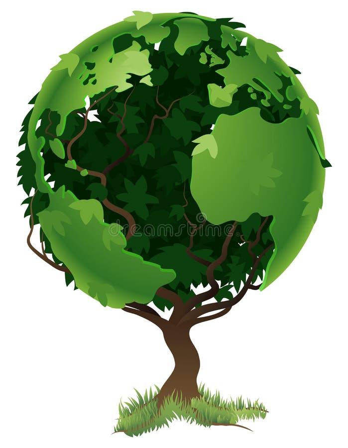 pojęcia kuli ziemskiej drzewa świat royalty ilustracja
