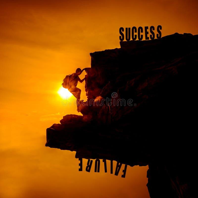 pojęcia niepowodzenia sukces vs fotografia royalty free