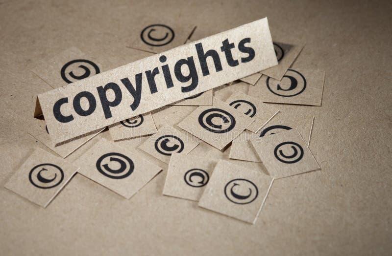 pojęcia prawa autorskiego symbol obraz stock