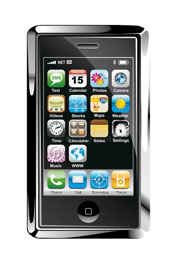 pojęcia projekta telefonu ekranu dotyk royalty ilustracja