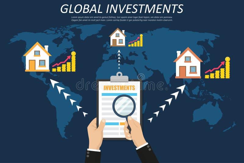 pojęcia prowadzenia domu posiadanie klucza złoty sięgający niebo Inwestować, nieruchomość, okazja inwestycyjna Ręki mienia schowe ilustracji