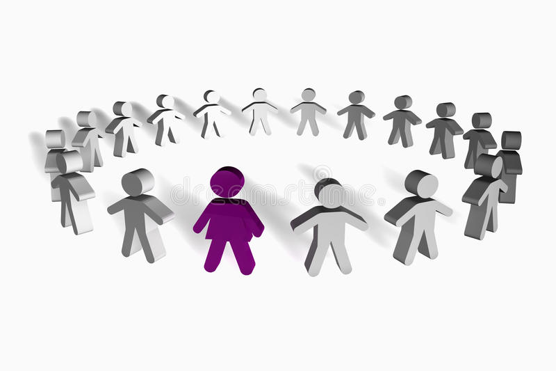 pojęcia przywódctwo ludzie kobiety ilustracji