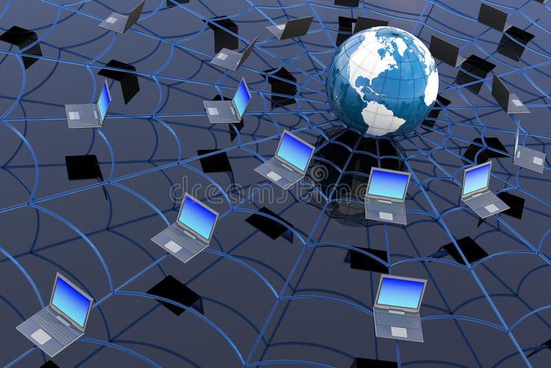 pojęcia sieci szeroki świat ilustracja wektor