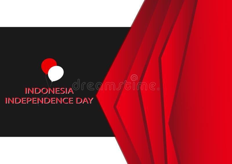Pojęcia tła czerwony czarny projekt, ilustracja Indonezyjskie dzień niepodległości ikony ilustracji