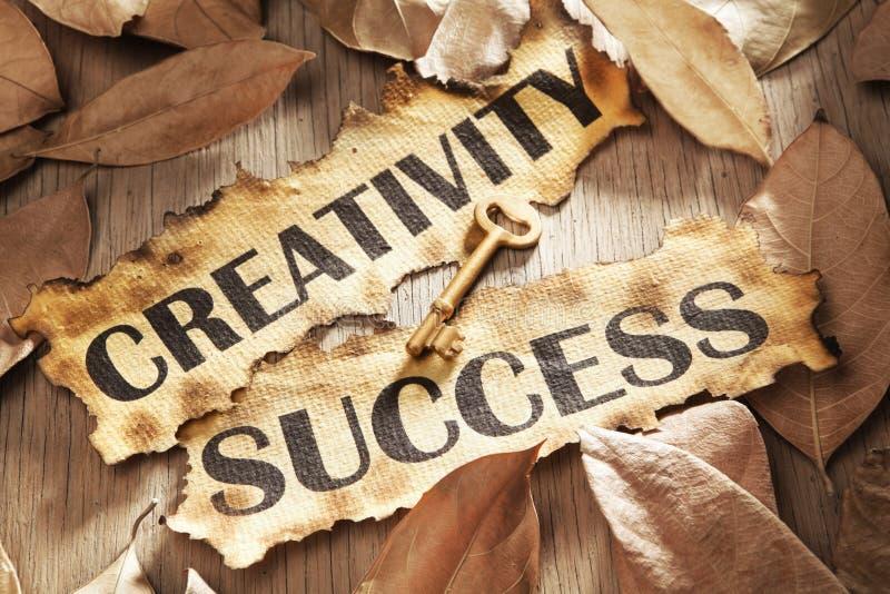 pojęcia twórczości klucza sukces obrazy royalty free