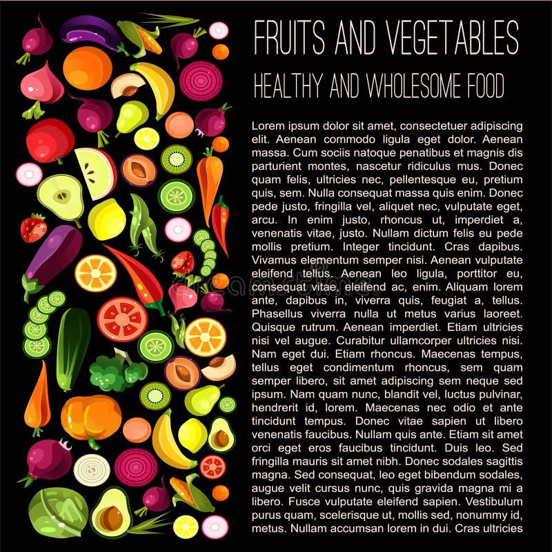 pojęcia zdrowe jedzenie royalty ilustracja