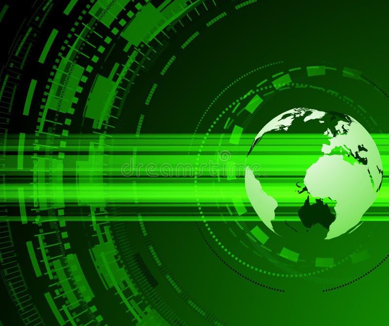pojęcia ziemi zieleni planeta ilustracja wektor