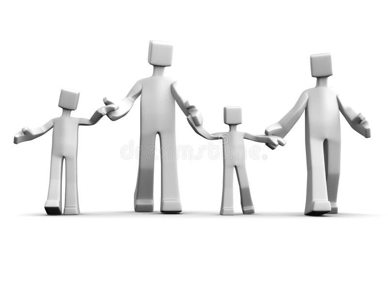 pojęcia związek rodzinny szczęśliwy royalty ilustracja