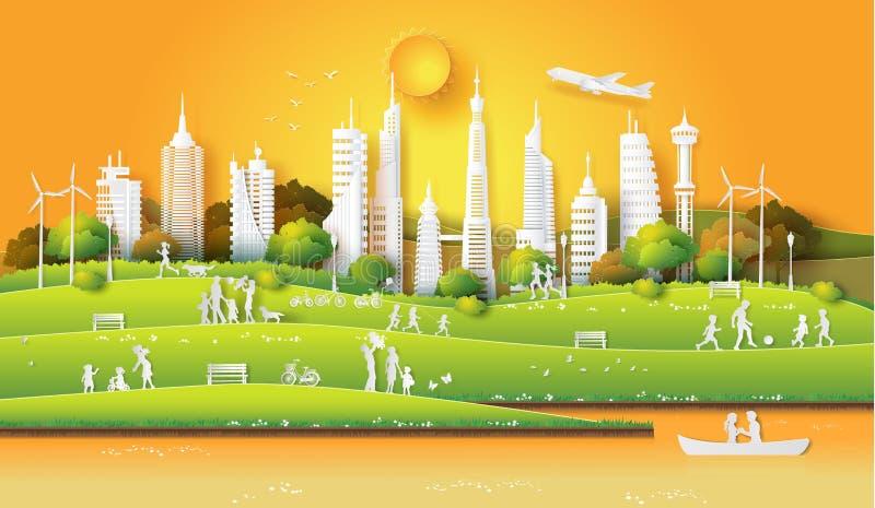 Pojęcie życzliwy eco i save ziemię ilustracji