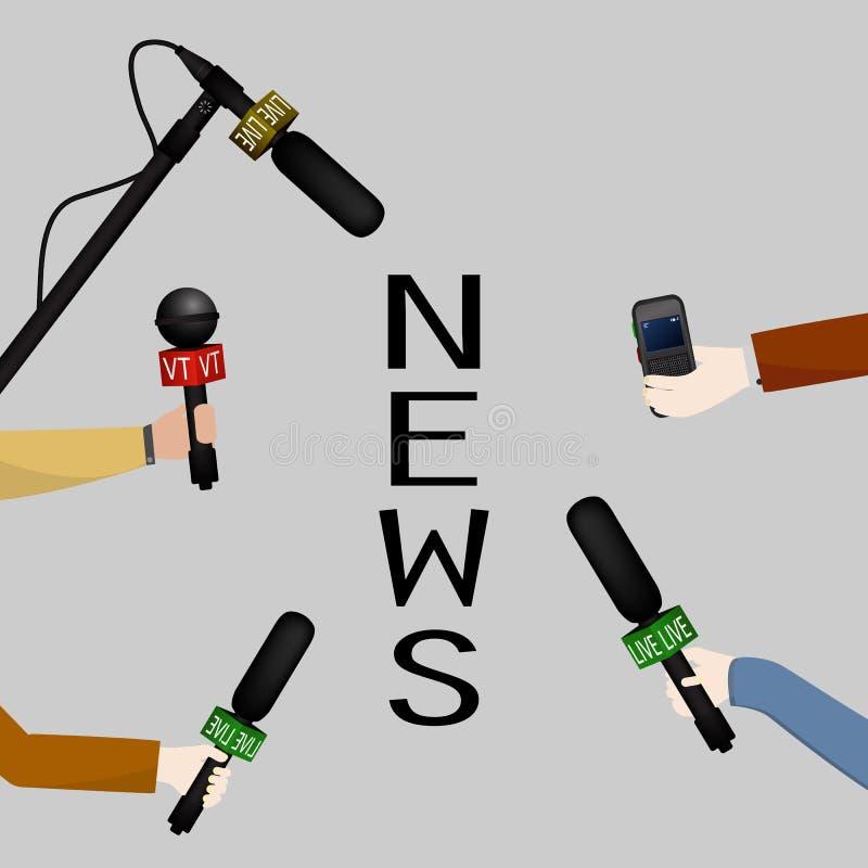 Pojęcie żywa wiadomość, raporty, wywiada royalty ilustracja