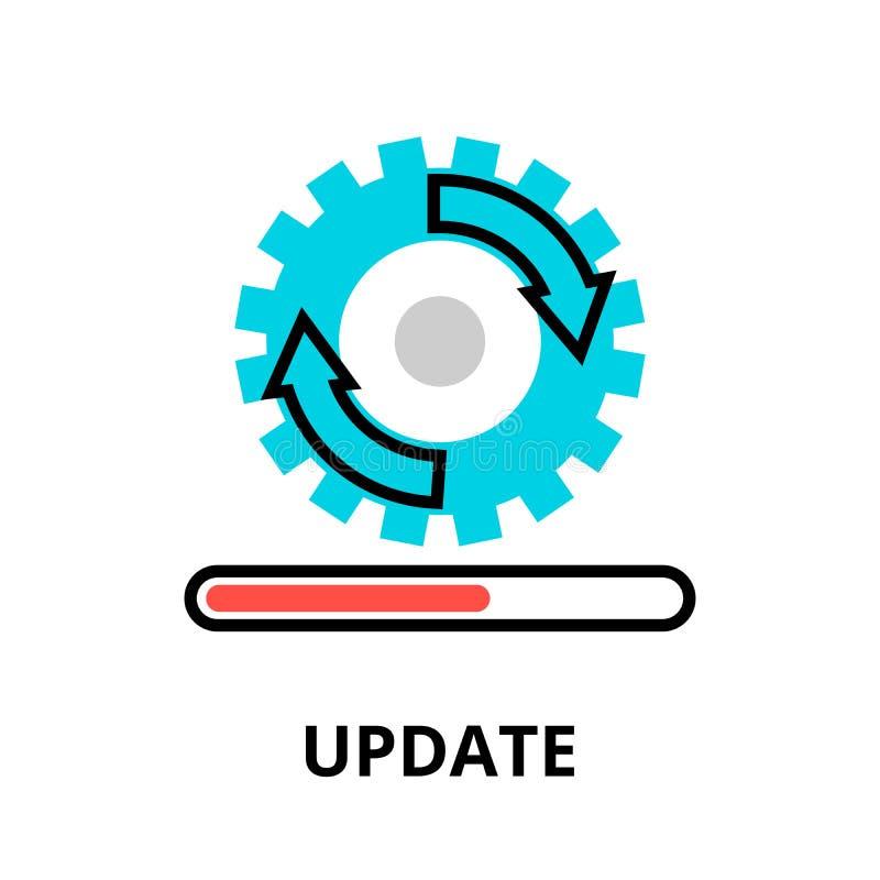 Pojęcie aktualizacja postępu podaniowa ikona ilustracja wektor