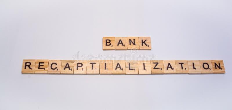 Pojęcie banka recapitalization na odosobnionym tle obraz royalty free