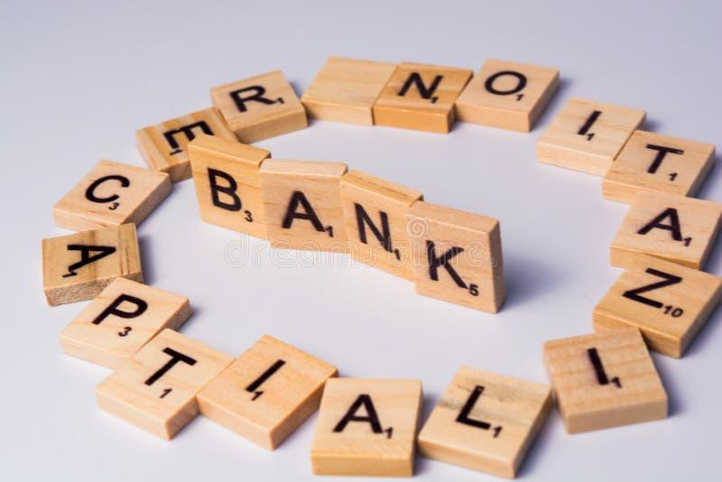 Pojęcie banka recapitalization na tle fotografia stock
