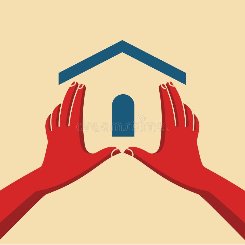 Pojęcie bezpieczni domy royalty ilustracja