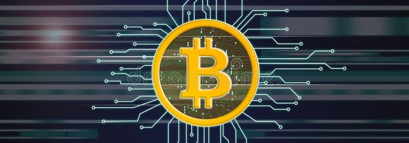 Pojęcie bitcoin waluta ilustracji