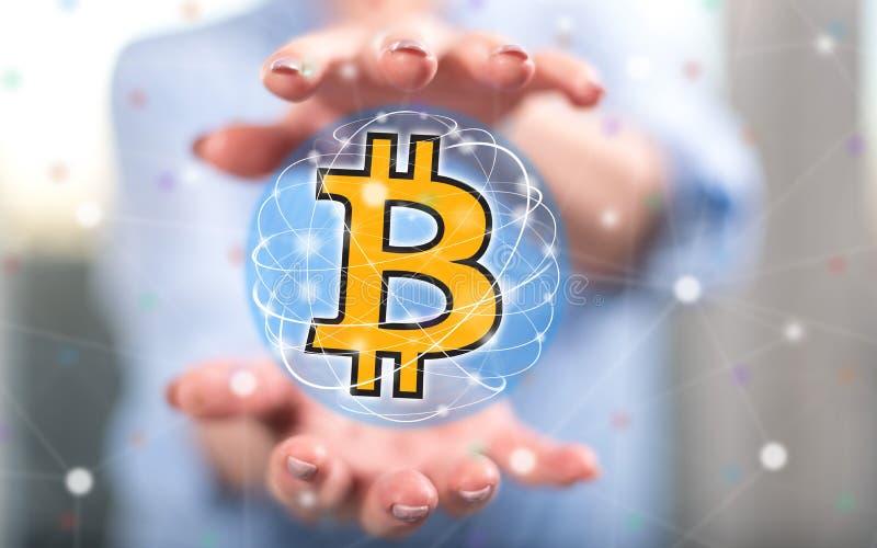 Pojęcie bitcoin waluta obraz stock
