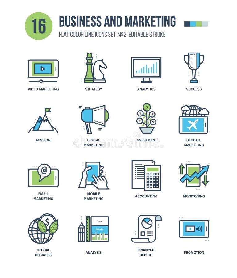 Pojęcie biznes i marketing royalty ilustracja