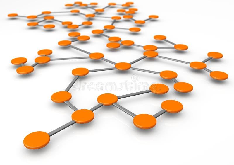 pojęcie biznesowa sieć royalty ilustracja