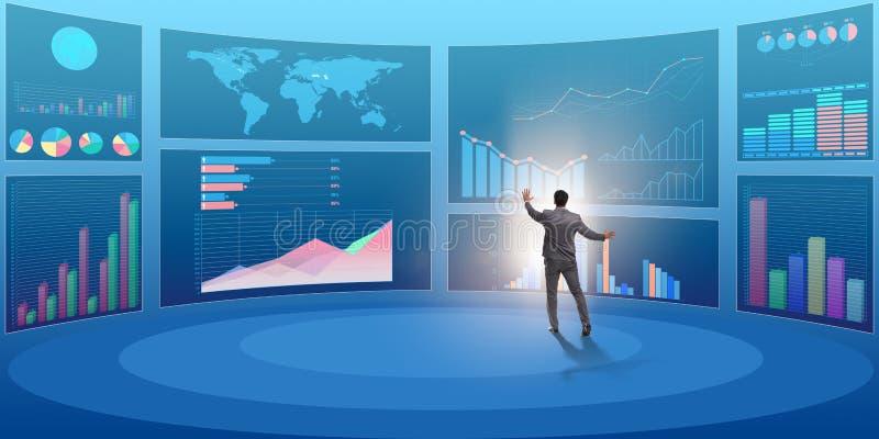 Pojęcie biznesowe mapy i finansowy visualisation royalty ilustracja