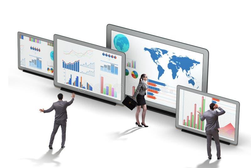 Pojęcie biznesowe mapy i finansowy visualisation ilustracji