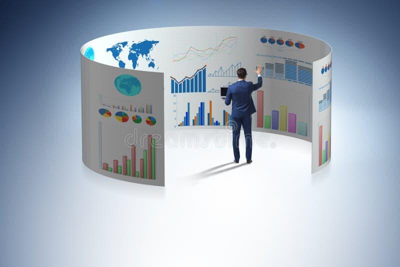 Pojęcie biznesowe mapy i finansowy visualisation ilustracja wektor