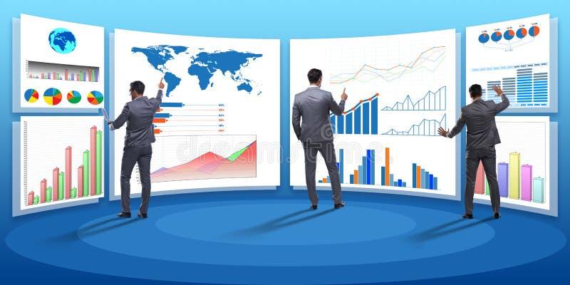 Pojęcie biznesowe mapy i finansowy visualisation zdjęcie stock