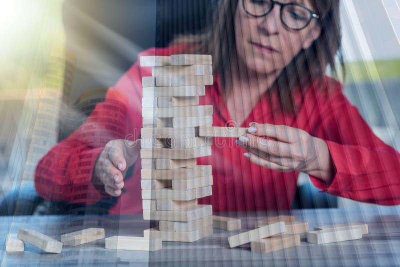 Pojęcie biznesowy ryzyko, dwoisty ujawnienie zdjęcia stock