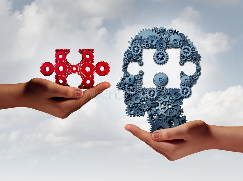Pojęcie Biznesowy szkolenie ilustracja wektor