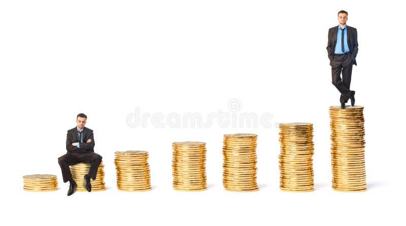Pojęcie bogactwo i ubóstwo obrazy royalty free