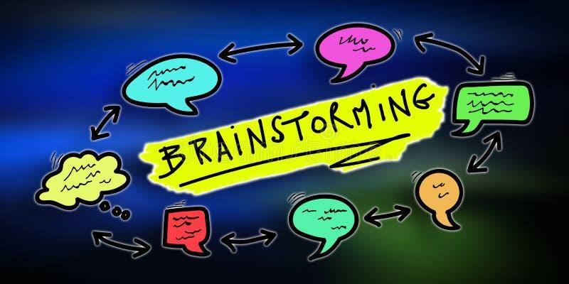 Pojęcie brainstorming ilustracja wektor