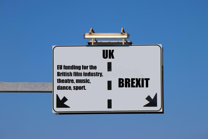 Pojęcie brexit Polepsza pobyt w UE? zdjęcia royalty free