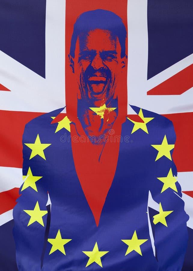 Pojęcie Brexit UK i UE zaznacza skład obrazy stock